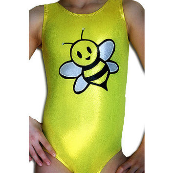Gymnastics Yellow Mystique Bumble Bee Leotard Gymnast cxs cs cm cl cxl axs as am al Sizes youth - Adult