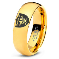 Oakland Raiders Ring Mens Fanatic NFL Sports Football Boys Girls Womens NFL Jewelry Fathers Day Gift Tungsten Carbide 105