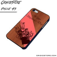 Valentine Wood Day Case For Iphone 4/4S Case