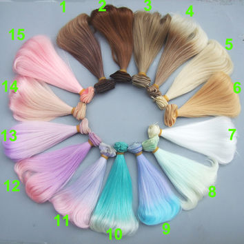 Free shipping1 piece 15 cm curly doll hair 1/3 /1/4 1/6 Bjd curly BJD wigs SD Russian