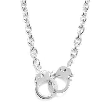 High Gloss Lockable Handcuff Necklace