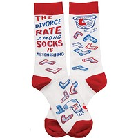 The Divorce Rate Among Socks Is Astonishing Socks in Red, Blue and White