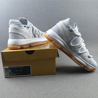 "Nike Zoom KD 10 ""Pale Grey"" Basketball Shoes"