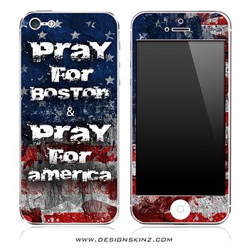 Pray For Boston - Pray For America iPhone Skin