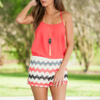 Making Waves Romper, Red