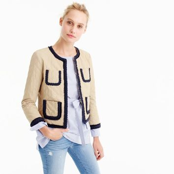Quilted safari jacket : Women novelty | J.Crew