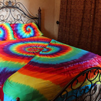Tie dye Twin XL sheet set