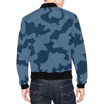 Navy Blue Camouflage Camo Jacket For Men