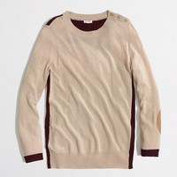 Factory colorblock elbow-patch sweater