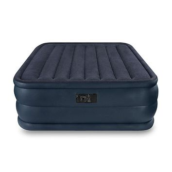 Intex Queen Raised Downy, Inflatable Indoor Air Mattress Bed