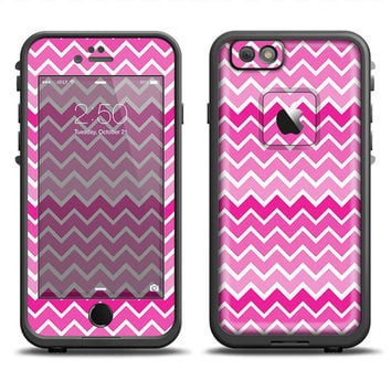 The Pink & White Ombre Chevron V2 Pattern LifeProof Case Skin (Other LifeProof Models Available!)