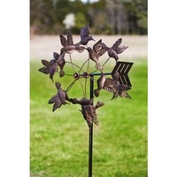 SheilaShrubs.com: Antique Bronze Floating Hummingbirds - Kinetic Garden Art 491329 by Evergreen Enterprises: Wind Spinners
