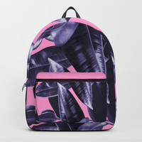 Rubber Plant Pink Backpacks by lostanaw