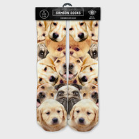 Samson®  Dogs Printed Socks Animals Doggy Puppy Sublimation Quality Print UK