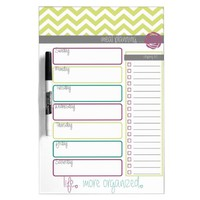 Life. More Organized. Meal Plan Dry Erase Board