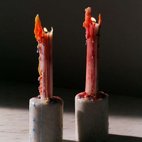 Color Drip Taper Candle Set | Urban Outfitters