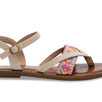 BURLAP FLORAL EMBROIDERED WOMEN'S LEXIE SANDALS