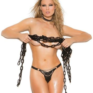 Elegant Moments EM-L9778 Leather g-string.