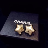 Chanel lovely Star shaped earrings gold stud