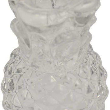 clear glass Pineapple chime candle holder