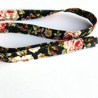 Roses Lanyard. Key Lanyard. Flowers Fabric Lanyard. ID Holder. Fashion Accessories