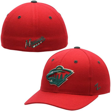 Minnesota Wild Zephyr Crosscheck Fitted Hat – Red