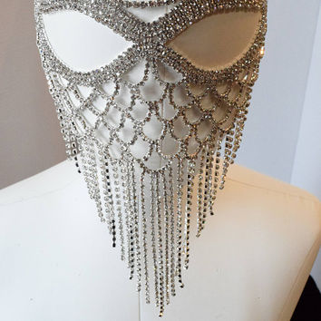 Silver, Gold ,AB and Black  Rhinestone Masquerade Face Mask ,Sparkling Face Mask, Mardi Gras mask,Wedding mask, New Years Eve