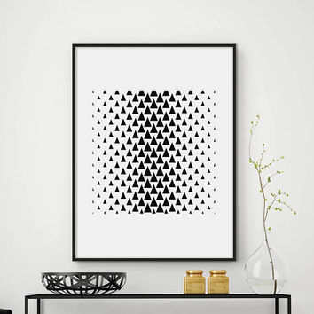 Abstraction print, triangle, minimalist print, printable art, wall art, modern home decor, fine art print, scandinavian print, DIGITAL FILES
