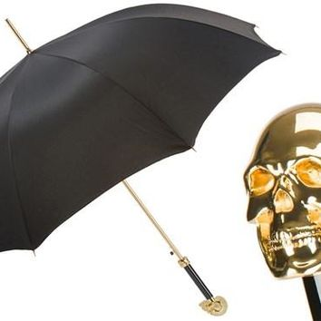 Pasotti Gold Skull Umbrella