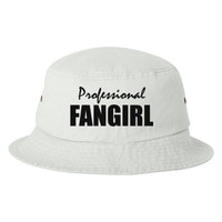 Professional Fangirl Embroidered Bucket Hat