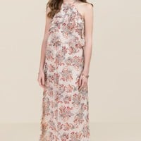 Martha Ruffle Floral Maxi Dress