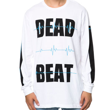 DEAD BEAT L/S TEE WHITE