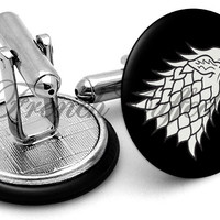 Game Thrones Wolf Cufflinks