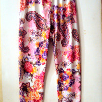 Paisley Leggings Floral Leggings Women's Girls Yoga Leggings Fitness Leggings Workout Leggings Running  Leggings