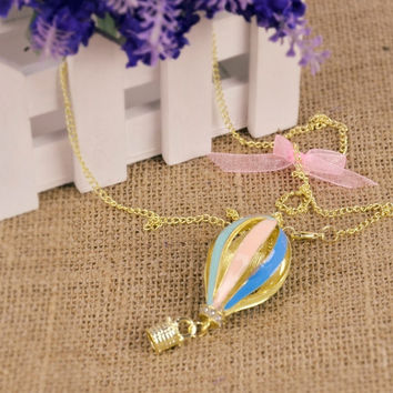 New Fashion New Fashion Korean 1pcs Dreamer On Air Colorful Crystal Focus Fire Balloon Necklace