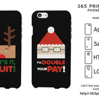 Funny X-mas Rudolph and Santa Matching Phone Cases - 365 Printing Inc