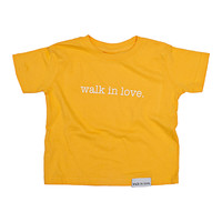 walk in love. Yellow Kids T-Shirt