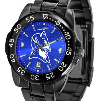 Duke University Mens Watch Fantom Gunmetal Finish Blue Dial