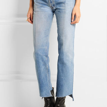 Vetements - Reworked high-rise slim-leg jeans