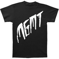 MGMT Men's Scratch On Black Slim Fit T-shirt Black
