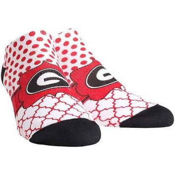 NCAA Georgia Bulldogs Women's Quatrefoil Dots Ankle Socks