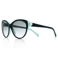 Tiffany & Co. -  Return to Tiffany™ cat eye sunglasses in acetate with Austrian crystals.