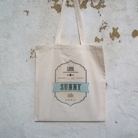 'Look On The Sunny Side' Shopping Bag