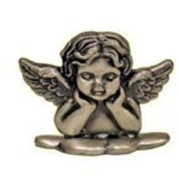 Set of 12 Place Card Holders - Pewter Angel
