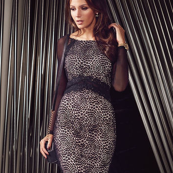 IDress Autumn Winter Sexy Bodycon Black Eyelash Lace Party Dresses Lady  Dresses Women Winter Dresses 2015 Long Sleeve