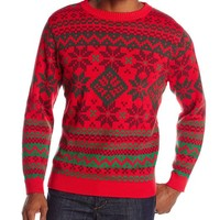Alex Stevens Men's Bright and Bold Fairisle Ugly Christmas Sweater