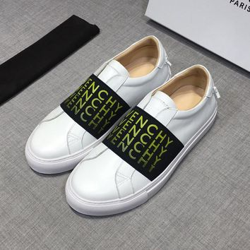 Givenchy Men Leather White Low Sneakers - Best Deal Online