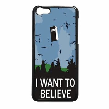 I Want To Believe Tardis Doctor Who 52  iPhone 5c Case