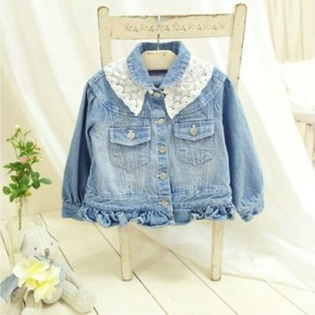 Vintage Inspired Girls Clothes Little Girls Denim Jacket | Vindie Baby