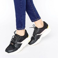 Puma R698 Sneakers In Black And Pink at asos.com